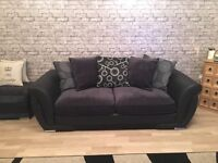 Large 3 and 2 seater sofas