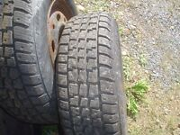 """4  195 70 14"""" WINTER Tires on dodge rims $150.00 used 1 year."""