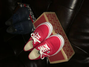 Vans - Low cut. Size: 9, and in great condition.