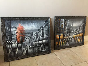 Oil Painting Set with custom frames