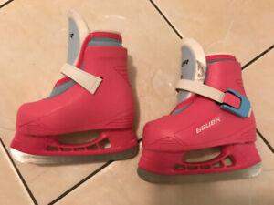 Bauer Lil Angel II Toddler Girl Ice Skates (Size 6 7) b4aa01eebe20