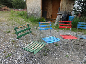 Vintage (almost antique) folding garden/patio chairs Yukon image 6