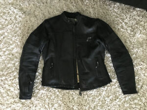 Roland Sands leather women's cafe racer motorcycle jacket