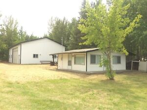 Large lake front lot with Heated 40x56 shop