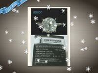 Diamond rings and earrings for sale