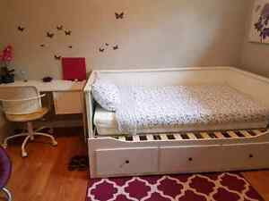 Fully furnished room in a two-bedroom basement