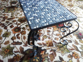 Mosaic top occasional table