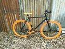 No logo fixie one speed bike 700c wheels, 21 in frame, in good working