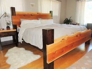Hand crafted one of a kind beds made locally on island