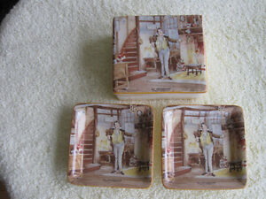 4-Pc.SET NEW HALL HANLEY CHINA / CHAS. DICKENS' Mr.PECKSNIFF