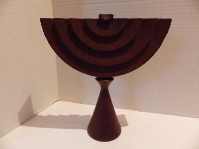 Modern Contemporary Style MENORAH Wood Chanukah Jewish Holiday