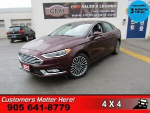 2017 Ford Fusion SE  AWD NAV LEATH ROOF CAM 2X-P/SEAT MEM HS BT