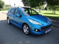 Peugeot 207 SW 1.6HDi 92 Allure Estate, 2012, 58k FSH, Panoramic roof, Leather