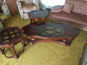 3 piece coffee table set $200 or best offer