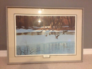 "Ducks Unlimited Print, ""Stop Over"", Limited #339/650, $75.00"