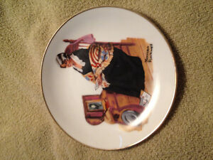 2 NORMAN ROCKWELL Collectible plates