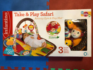 Infantino Play Mat Take & Play Safari