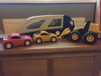 Little tikes large car carrier and tractor!