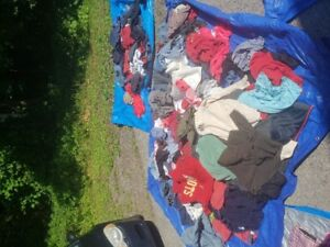 Women's clothes 3 garbage bags $15 for all.