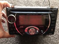 JVC double din stereo with front USB and aux port