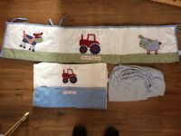 Busy Tractor Crib bedding set