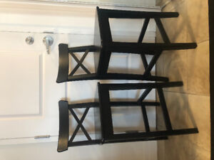 2 (BLACK-BROWN) IKEA BAR STOOLS FOR SALE