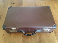 Vintage Antler Brown Suitcase!