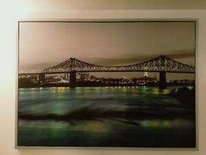Decorative painting with photo of Jacques Cartier Bridge