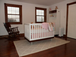 Beautiful, well-built baby crib with toddler bed conversion kit