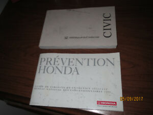 guide conducteur HONDA CIVIC 1999