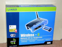 Linksys wifi wireless g network kit (used - in great condition)