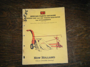 New Holland 800, 818 Forage Harvester Service Parts Catalog