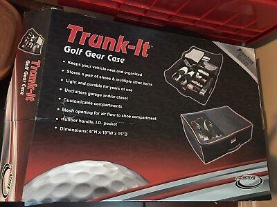 "Trunk-It Golf Gear Case 6"" H X 19"" W X 15"" D Premium Series Red New"