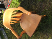 CHAIR  Classic WOODEN as new! Pluds 4 matching Modern waiting Ch London Ontario Preview