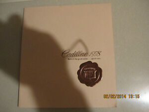 1978 Cadillac Spec Booklet (16 pages)
