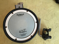 Roland PDX-8 Mesh Head Drum pad with rack clamp and L-Rod