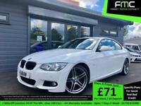 2011 BMW 320 2.0d M Sport **White - Red Heated leather - 19's**