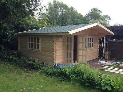 MAXX LOG CABIN - 5m x 4m - 68mm - Summer House, Garden Building, Home Office