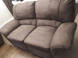 Like new Brown Sofa Loveseat Full Recliners high quality