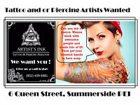 Tattoo and or Piercing Artisits
