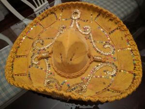 Authentic Sombrero! Yellow!