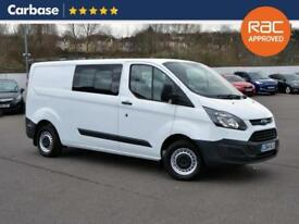 2015 FORD TRANSIT CUSTOM 2.2 TDCi 100ps L1H1 Low Roof Double Cab Van