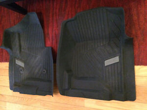 Fitted floor mats for 2016 GMC Sierra or truck with bucket seats
