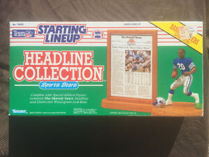 """Starting Lineup Headline Collection Lions """"BARRY SANDERS"""""""