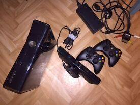 Xbox 360 (250gb) with Kinect sensor + 2 controllers + 12 games