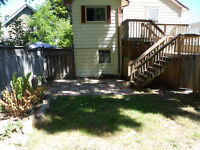 half a house--2 floors and private balcony with backyard!GRIMSBY