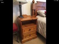 SOLD. Beautiful, Luxury, solid KING sized bed, including Bedroom furniture set