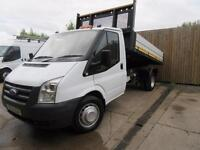 FORD TRANSIT TIPPER 2011 2.4 TDCI T350 140 BHP LIGHTWEIGHT ALLOY BODY VGC