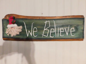 """New """"We Believe"""" Christmas Decoration, Great Gift"""