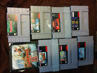 Bunch of snes and nes games